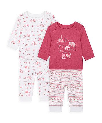 Mothercare Safari Friends Pyjamas - 2 Pack