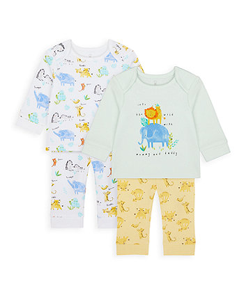Mothercare Mummy And Daddy Little Safari Pyjamas - 2 Pack