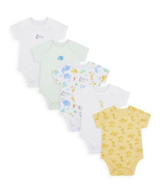 Mothercare Unisex Mummy & Daddy Short Sleeve Bodysuits - 5 Pack