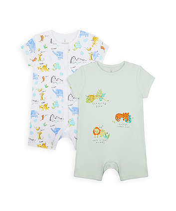 Mothercare Mummy And Daddy Rompers - 2 Pack