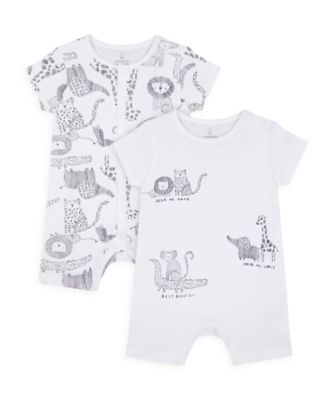 Mothercare Unisex Monochrome Rompers - 2 Pack