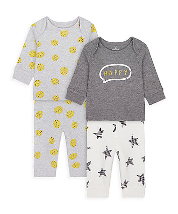 Mothercare Happy Stars And Spots Pyjamas - 2 Pack