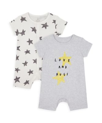 Mothercare Stars And Spots Rompers - 2 Pack