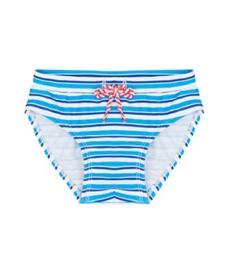 Mothercare Swimwear-Under The Sea Stripe Blue Brief