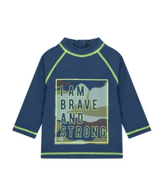 Mothercare Swimwear-Tropic Cool I Am Brave And Strong Rashvest