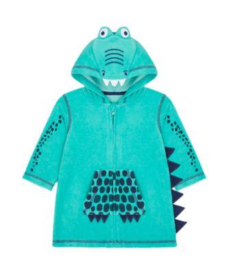 Mothercare Swimwear-Eco Jungle Crocodile Hood Poncho