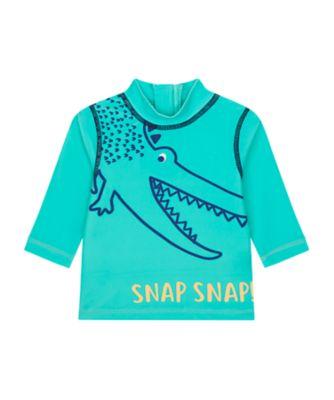 Mothercare Swimwear-Eco Jungle Snap Snap Croc Rashvest