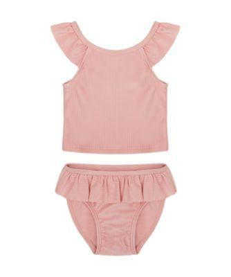 Mothercare Swimwear-Sun Bleached Pink Rib Tankini