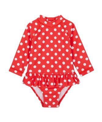Mothercare Swimwear-Regatta Beach Red And White Spot Sunsafe