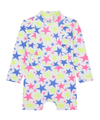 Mothercare Swimwear-Neon Wave Yellow And Multi Star Sunsafe