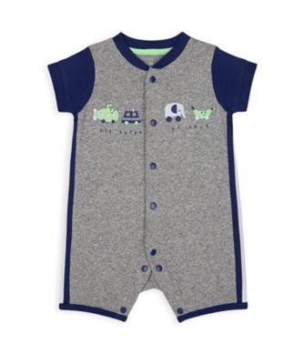 Mothercare NB Boys Car Grey Marl Graphic Romper