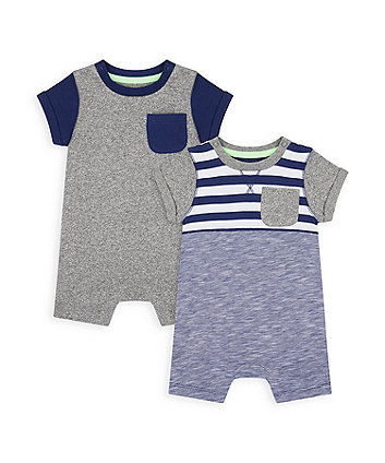 Mothercare Panel Rompers - 2 Pack