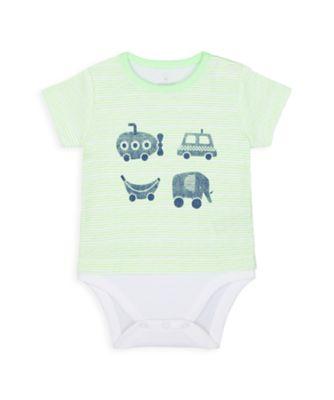 Mothercare NB Boys Car Mock Bodysuit