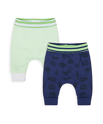 Mothercare Little Car Joggers - 2 Pack
