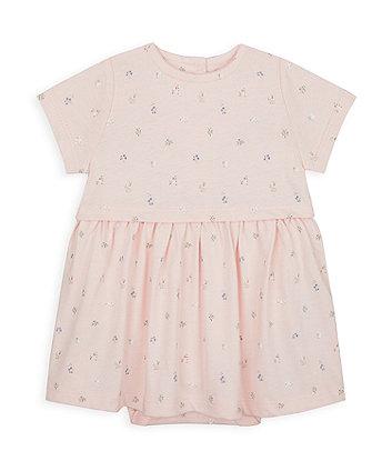 Mothercare Pink Floral Romper Dress