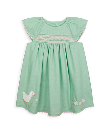 Mothercare Duck Dress And Knickers Set