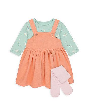 Mothercare Little Duck Pinny Dress Set