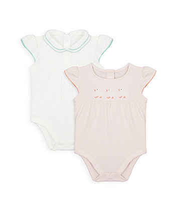 Mothercare Little Duck Bodysuits - 2 Pack