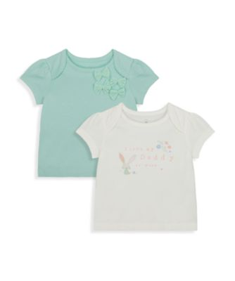 Mothercare NB Girls Little Duck Short Sleeve T-Shirts - 2 Pack