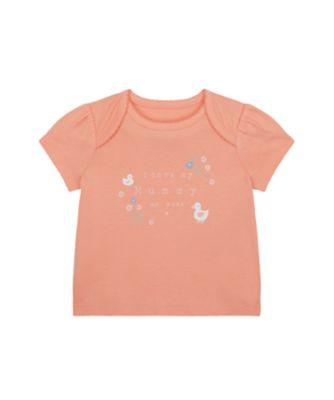 Mothercare NB Girls Little Duck Short Sleeve Mummy Duck Uber T-Shirt