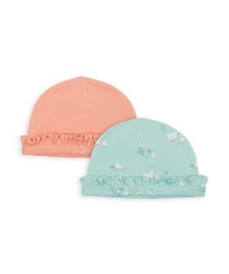 Mothercare NB Girls Little Duck IL Hats - 2 Pack