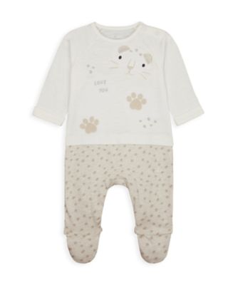 Mothercare NB My First Unisex Mock Cheetah All-In-One