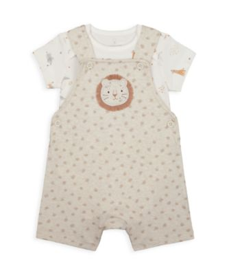 Mothercare NB My First Unisex Lion Bibshort Set
