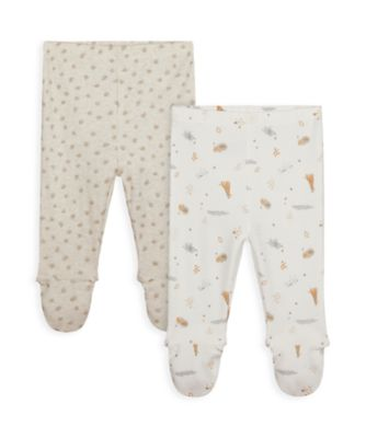 Mothercare NB My First Unisex Leggings With Feet Cover - 2 Pack