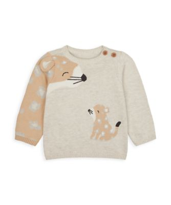 Mothercare NB My First Unisex Leopard Knit Jumper