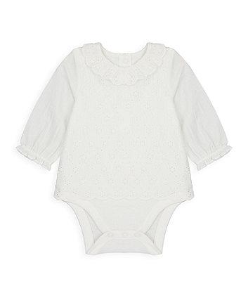 Mothercare Broderie Bodysuit