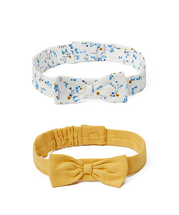 Mothercare Floral Bow Headbands - 2 Pack