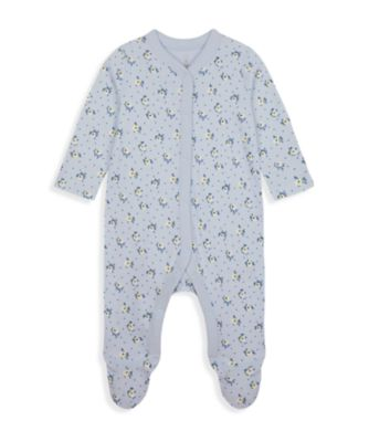 Mothercare Wardrobe Essentials NB Girl Blue Ditsy All-In-Over