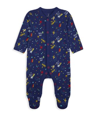 Mothercare Wardrobe Essentials NB Boy Navy Space All-In-One