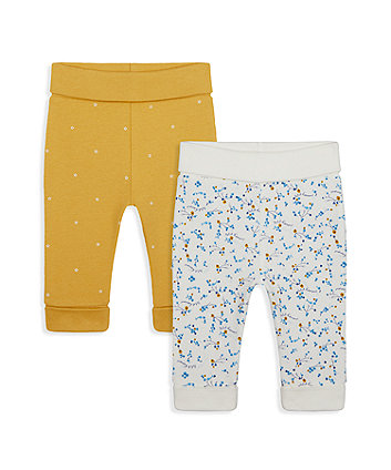 Mothercare Floral And Spot Joggers - 2 Pack