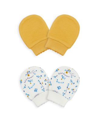 Mothercare NB Girls Bird Mitts- 2 Pack
