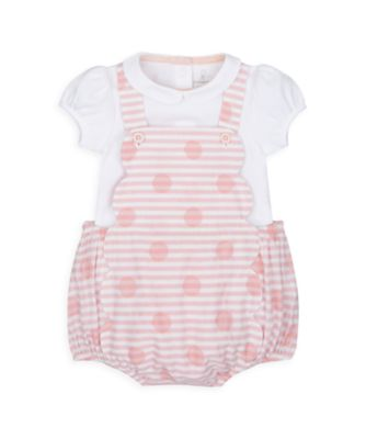 Mothercare NB Heritage Girl Pink Spot Bibshort Set