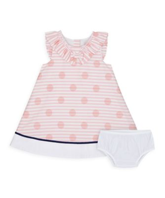Mothercare NB Heritage Girl Pink Spot Frill Dress