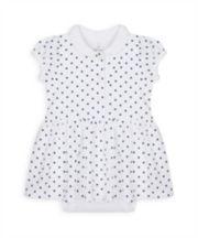Mothercare Heritage Pique Spot Romper Dress