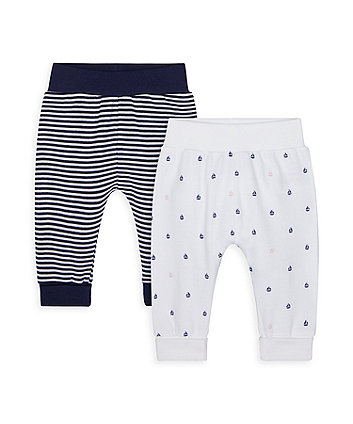 Mothercare Heritage Stripe And Sailboat Joggers - 2 Pack