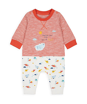 Mothercare Rhino Mock Top And Leggings All In One