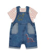 Mothercare Dino Bibshorts And Bodysuit Set