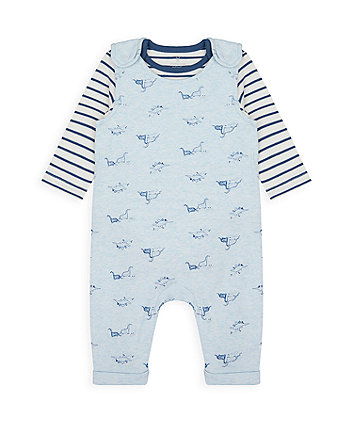 Mothercare Dino Dungarees And Bodysuit Set