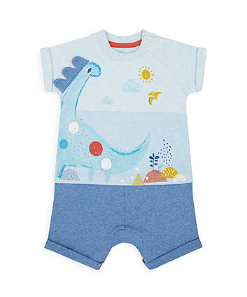 Mothercare Dino Mock Top And Shorts Rompers