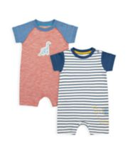Mothercare Dino And Friends Rompers - 2 Pack