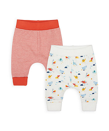 Mothercare Dino And Friends Joggers - 2 Pack