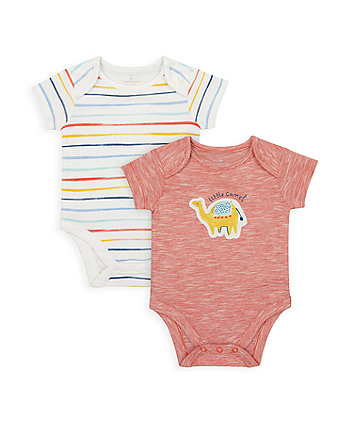 Mothercare Little Camel Bodysuits - 2 Pack