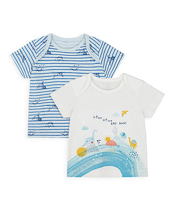Mothercare Dino And Friends T-Shirts - 2 Pack