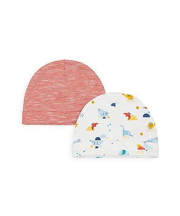 Mothercare Dino And Friends Hats - 2 Pack
