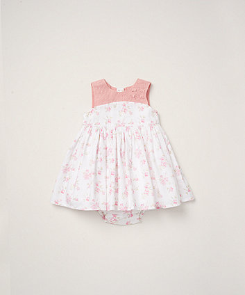 Mothercare Floral Dress And Knickers Set
