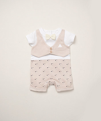 Mothercare Waistcoat And Bow Tie Romper